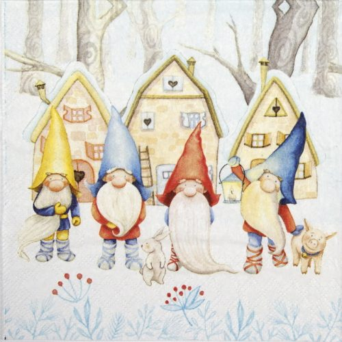 Paper Napkin - Gnomes