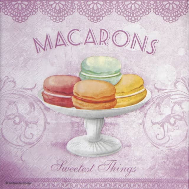 Lunch Napkins (20) - Macarons rose