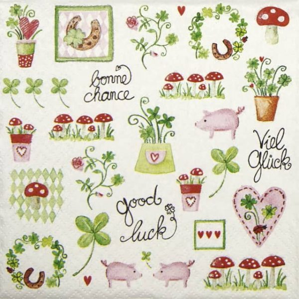 Paper Napkin - Lovely Luck
