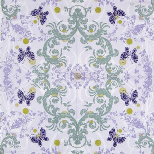Paper Napkin - Papillon Ornament Lilac