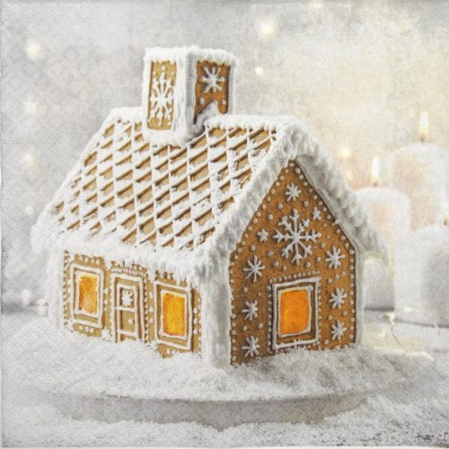 Lunch Napkins (20) - Gingerbread House