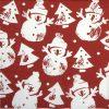 Paper Napkin - Snowman Stamp red