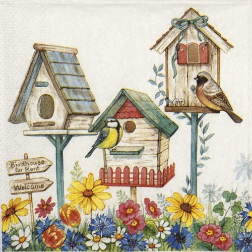 Cocktail Napkin - Birdhouse for rent