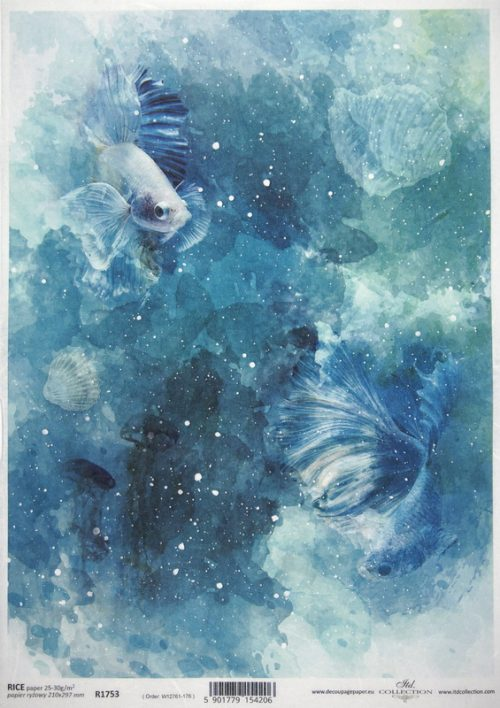 Rice Paper - Aquarelle Fishes