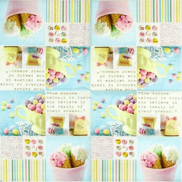 Paper Napkin - Ice Cream