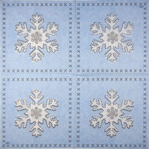 Paper Napkin - Ute Krause: Felt Snowflake