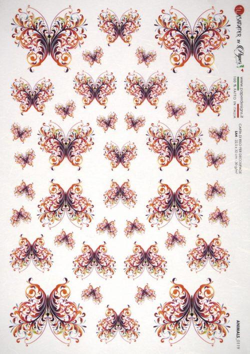 Rice Paper - Butterflies Ornament