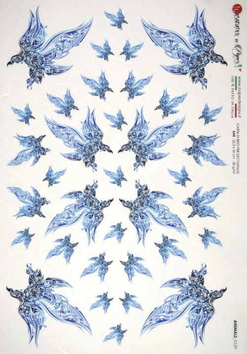 Rice Paper - Birds Ornament