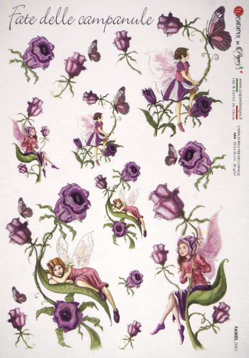 Rice Paper - Fairies Bluebell