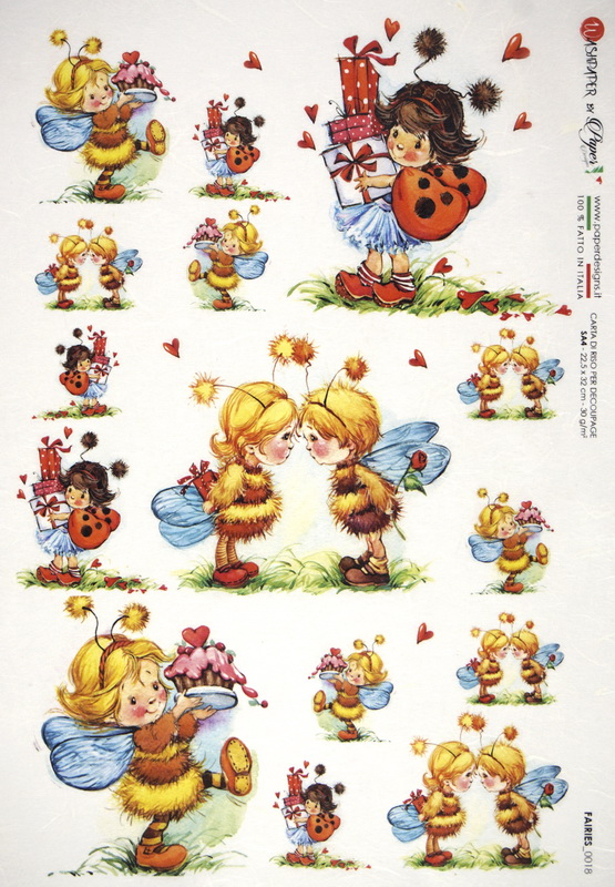 Rice Paper - Fairies Garden Love