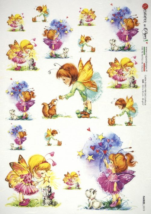 Rice Paper - Fairies Garden Animals