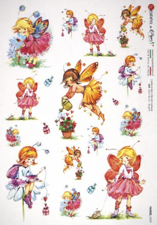 Rice Paper - Fairies Garden Presents