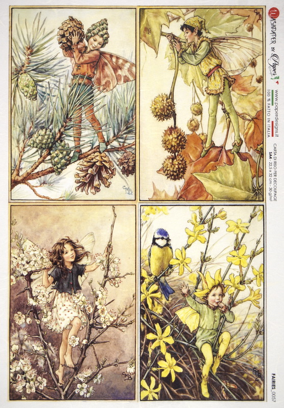 Rice Paper - Cicely Mary Barker: Fairies
