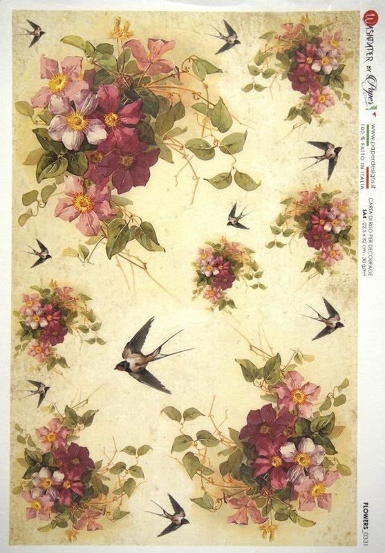 Rice Paper - Birds in the Garden