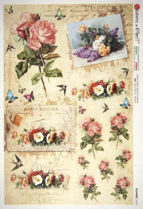 Rice Paper - Rose Garden