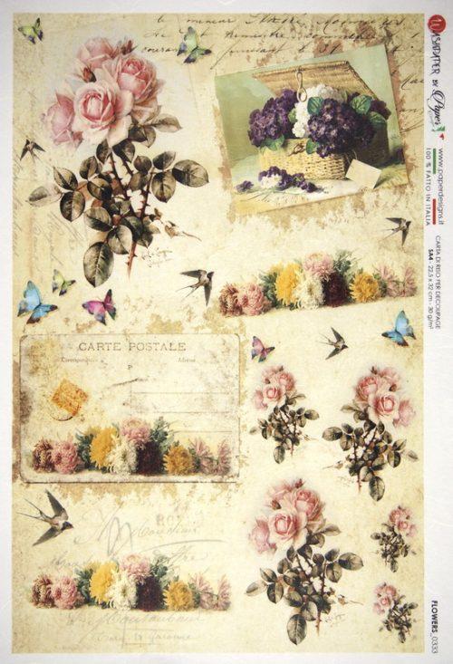Rice Paper - Flower Garden