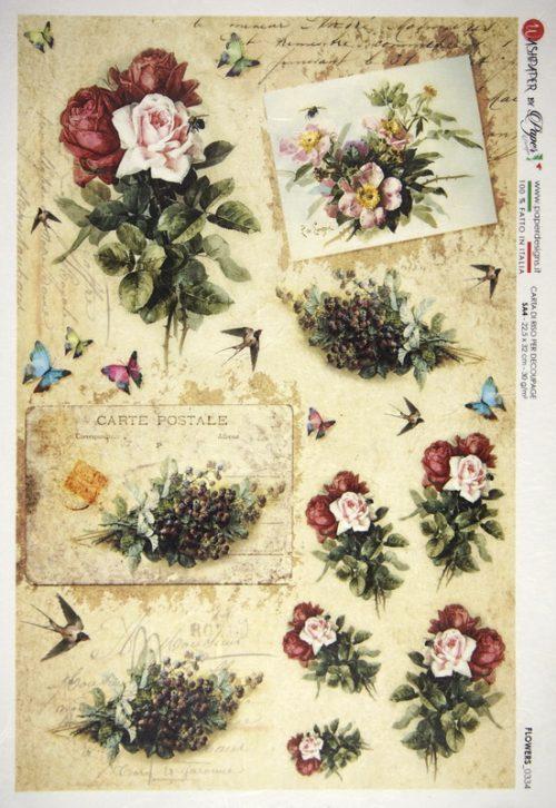 Rice Paper - Flower Garden 2