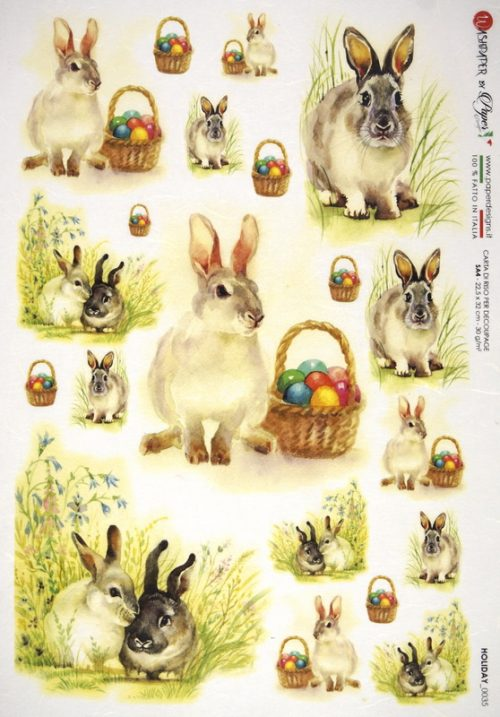 Rice Paper - Easter Bunny with Eggs