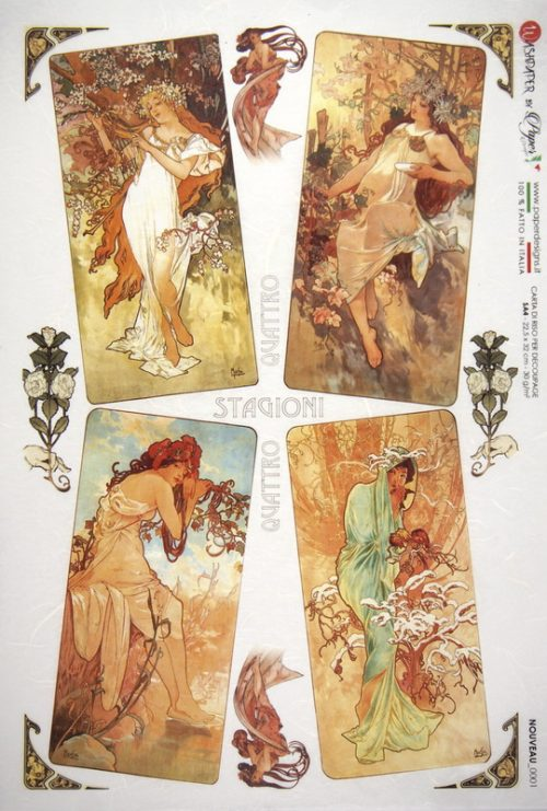 Rice Paper - Mucha: The Seasons
