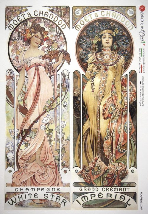Rice Paper - Mucha: Moet et Chandon