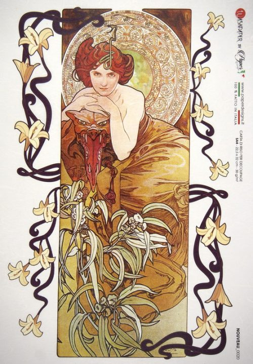 Rice Paper - Mucha: Emerald