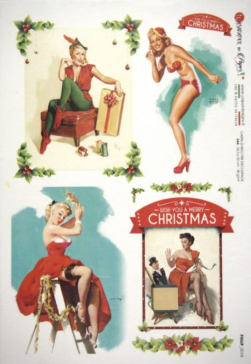 Rice Paper - Pin Up  Christmas