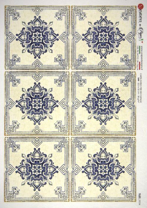 Rice Paper - Tiles Cream