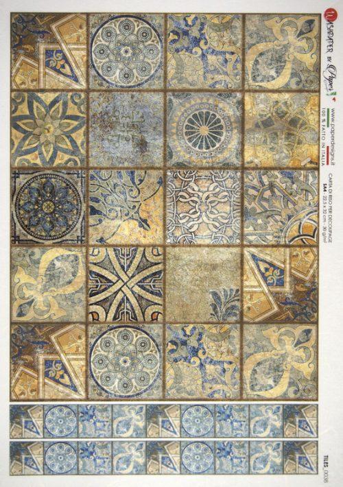 Rice Paper - Tiles Brown