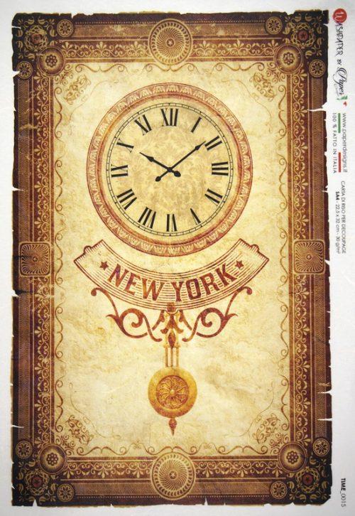 Rice Paper - New York Clock