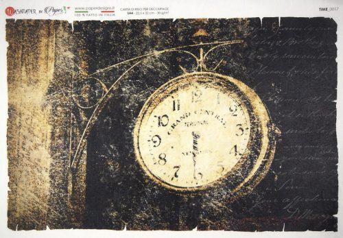 Rice Paper - Antique Street Clock