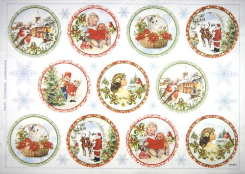 Rice Paper - Christmas Medallions