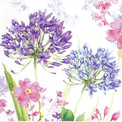 Paper Napkin - Purple Agapanthe