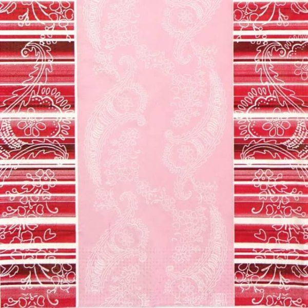 Paper Napkin - Light Pink Ornaments