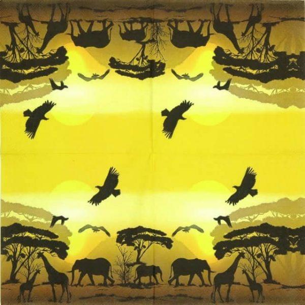 Lunch Napkins (20) - Africa Safari