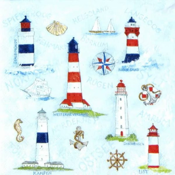 Paper Napkin - Maritime Ornaments Sea