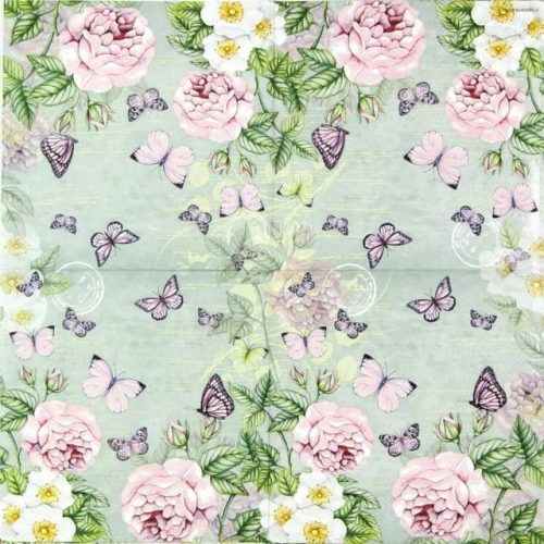 Paper Napkin - Botanical Rose