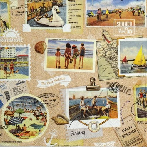 Paper Napkin - Vacation Scrapbook