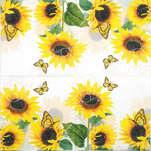 Cocktail Napkin - Sunny Butterfly
