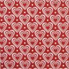 Paper Napkin - Hearts in Hearts red