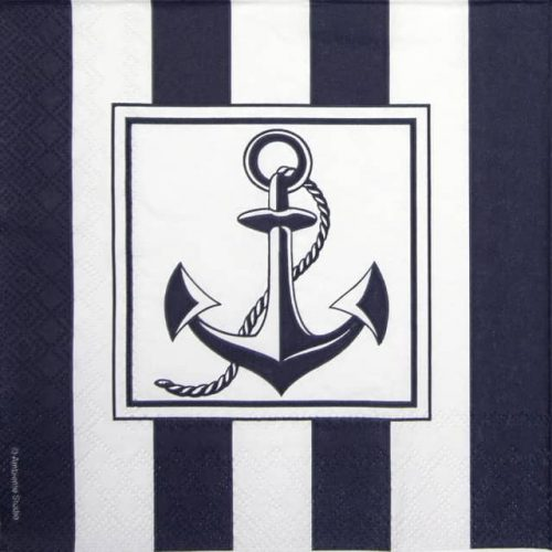 Paper Napkin - Anchor Blue