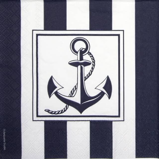 Paper Napkin - Anchor Blue