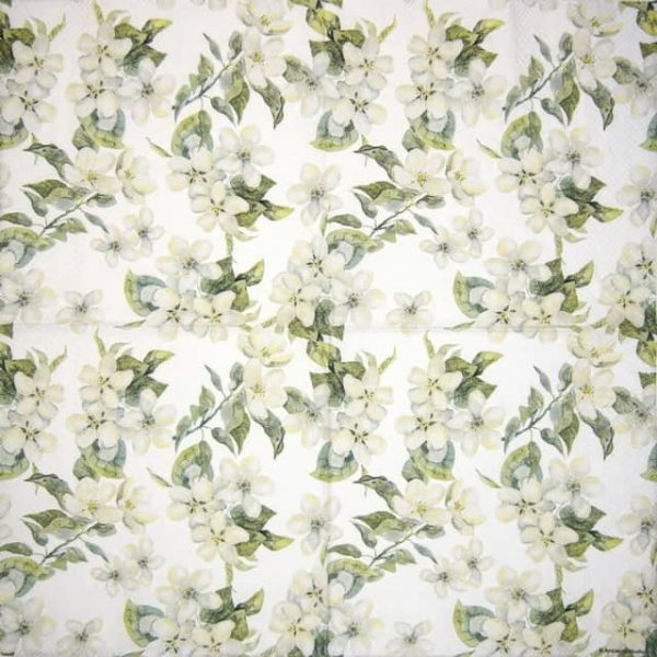 Paper Napkin - Cherry Blossom Grey