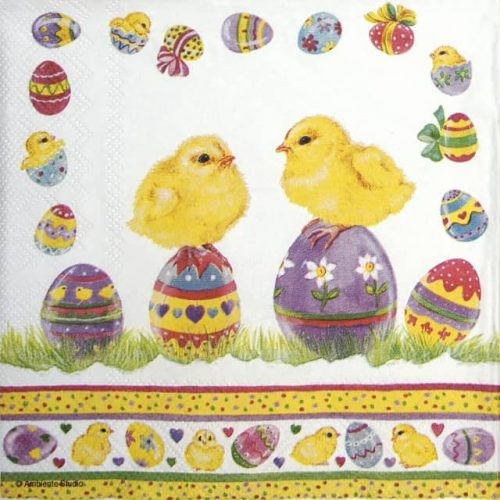 Lunch Napkins (20) - Chicks On Eggs