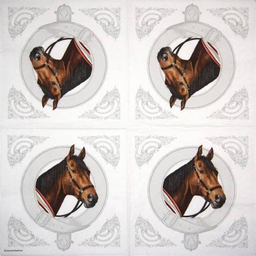 Cocktail Napkin - Classic Horses
