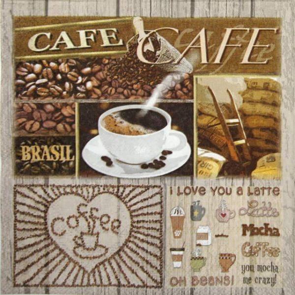 Cocktail Napkins (20) - Coffee Variation