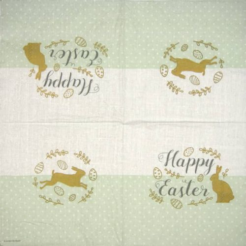 Paper Napkin - Embroidery Easter green