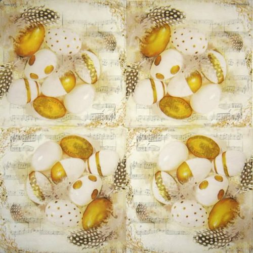 Lunch Napkins (20) - Golden Eggs