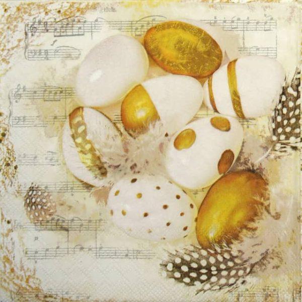 Cocktail Napkin - Golden Eggs