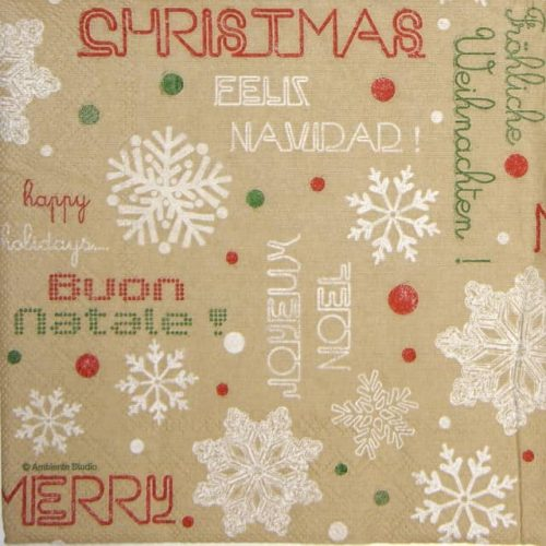 Lunch Napkins (20) - Joyeux Noel