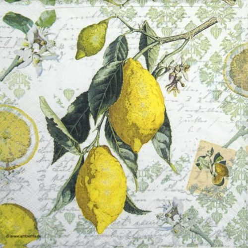 Cocktail Napkin - Lemon